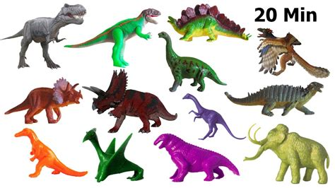 what color are dinosaurs dinosaurs collection counting colors jurassic