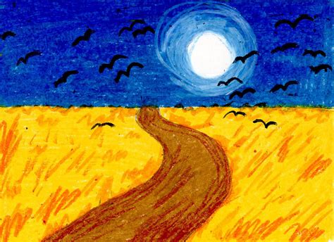 van gogh basic art van gogh wheat field with crows art projects for kids