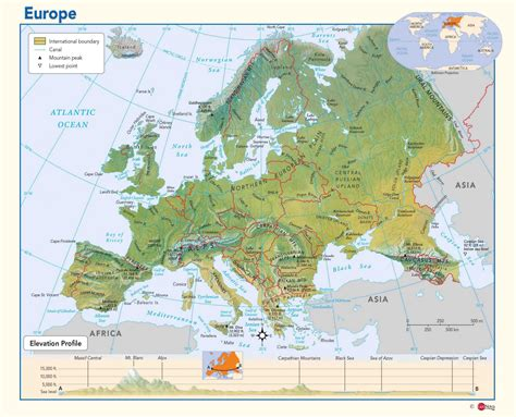 physical map europe physical map of europe maps