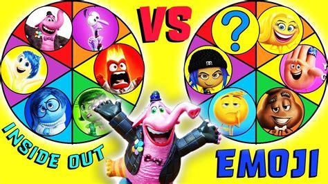 Emoji Film Vs   emoji movie vs inside out spin the wheel game gene