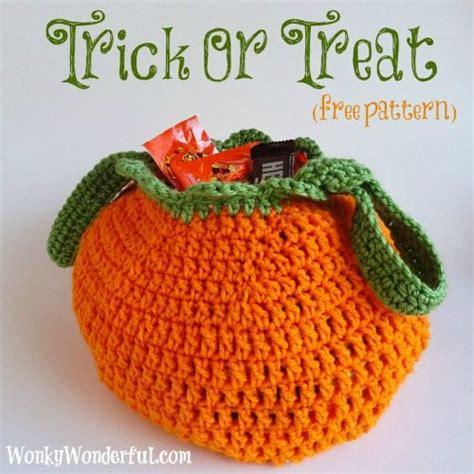 crochet pattern halloween bag trick or treat bag free crochet pattern wonkywonderful