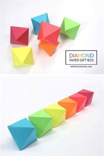 Paper Box Templates Free by Diy Gift Boxes With Free Printable Octahedron