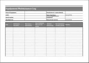Equipment Log Book Template by Heavy Equipment Maintenance Log Template Book Covers