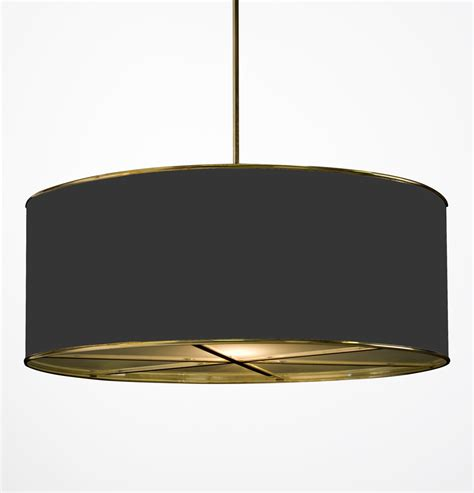 Drum Lamp Shades For Chandeliers Hanging Drum Shade Light With Frosted Glass Diffusers Hs 194