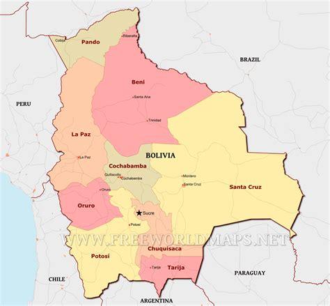 map of bolivia bolivia political map