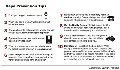 10 Tips On How To An by Silverman S Ten Prevention Tips Are Not Sexist Est