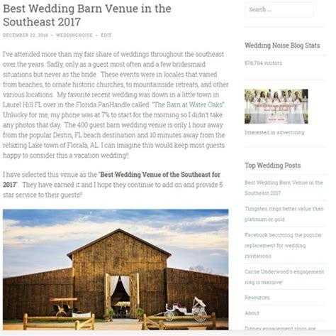 Voted Best Wedding Barn Venue in the Southeast for 2017