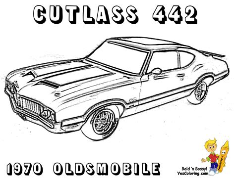 coloring pictures classic cars brawny car coloring pages american cars