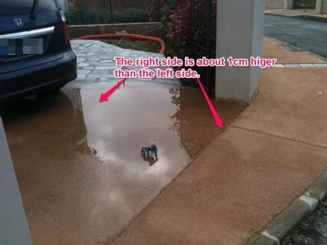 How to remove about 1cm of concrete driveway so water can
