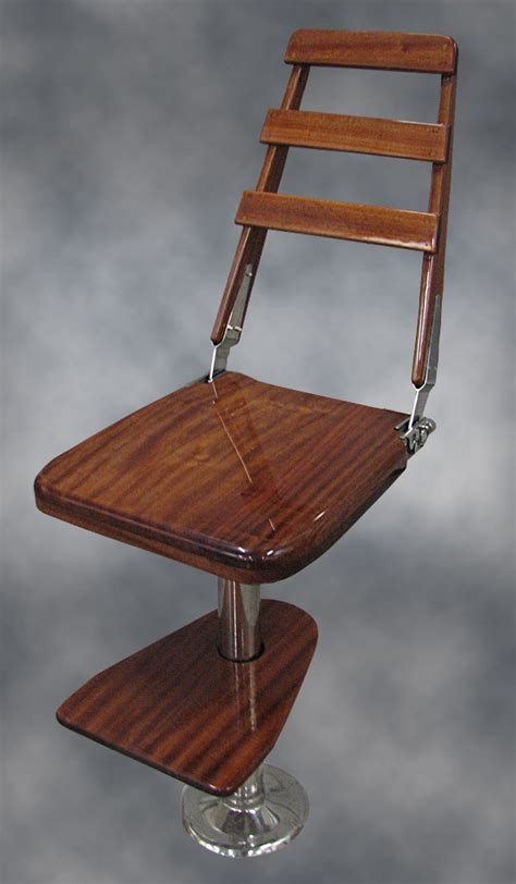 nautical design helm chair mahogany bar chair custom designed and made for the