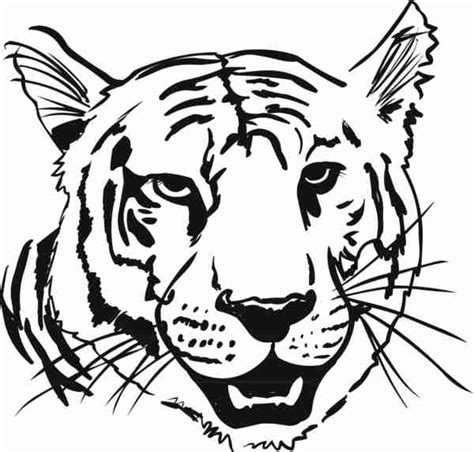 printable animal heads coloring animal heads tiger head coloring page with 600