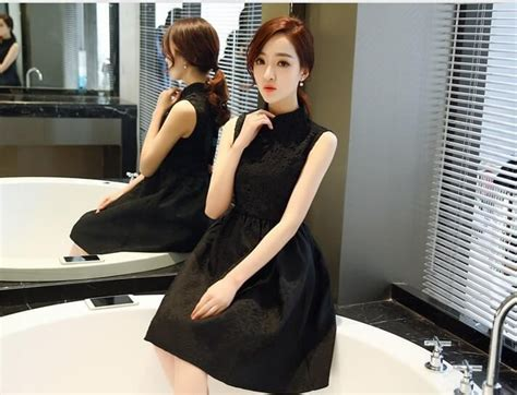 Modern Fashion Cheongsam Black modern fashion cheongsam ds4274 black tamochi