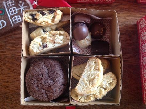 four baked goods holiday gifts boxes