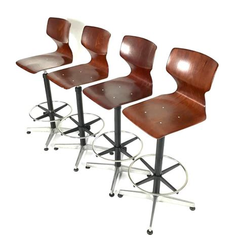 Unique Stools by Unique Set Of Four Industrial Fl 246 Totto Bar Stools Germany