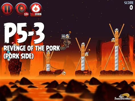 angry birds wars ii of the pork p5 15 angry birds wars 2 of the pork level p5 3