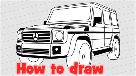 G Wagon Sketches by How To Draw A Car Mercedes G500