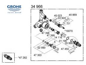 grohe mixer valve 34966 000 shower spares and parts