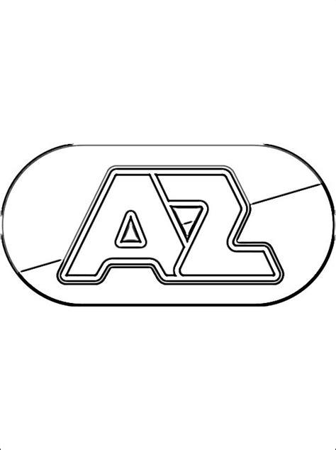 az logo kleurplaat gratis kleurplaten