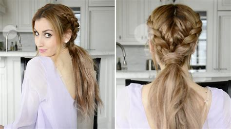 fancy a change of hair stule messy braided boho ponytail hairstyle fancy hair