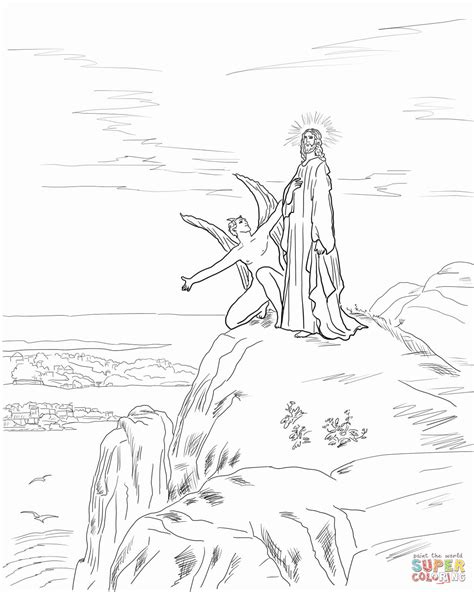 coloring pages jesus in the desert jesus tempted in the desert coloring page coloring pages