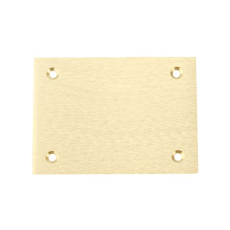 Brass Floor Box Cover Plate by Hubbell S3813 Brass Floor Box Rectangle Blank Cover