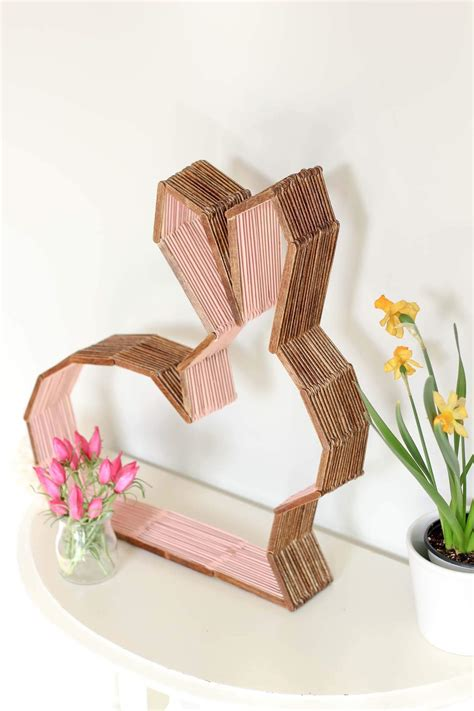 diy free diy modern bunny wall decor for easter or a nursery