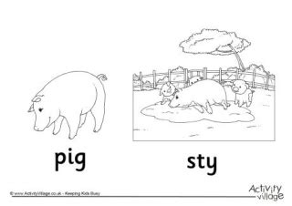 pigsty coloring page pig colouring page