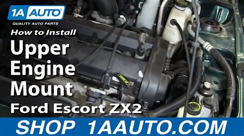 how do cars engines work 2002 ford zx2 security system how to install replace upper engine mount 1998 03 ford escort zx2 youtube