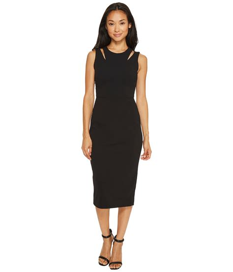 Dress Ketat Cut Shoulder calvin klein shoulder cut out sheath dress at zappos