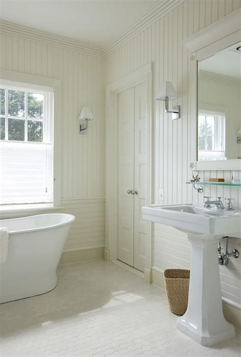 bathroom with beadboard backsplash cottage bathroom john hummel