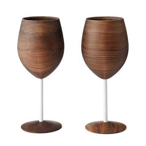 Barware Glasses Wooden Wine Glasses The Green