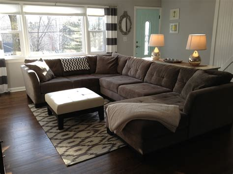 rug placement sectional retro ranch reno rugs revealed