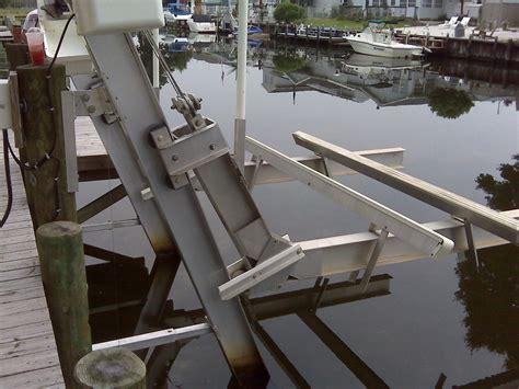 aluminum fishing boat lift mint cond imm alum elevator boat lift f s the hull truth