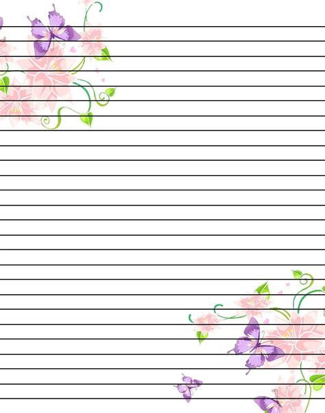 printable notepad writing paper free printable flower notebook paper google search