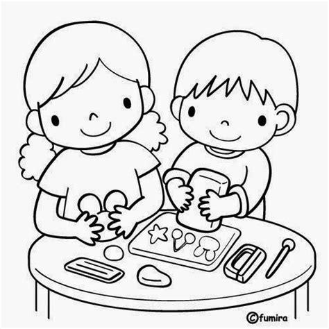 imagenes niños jugando preescolar dibujos para colorear maestra de infantil y primaria el