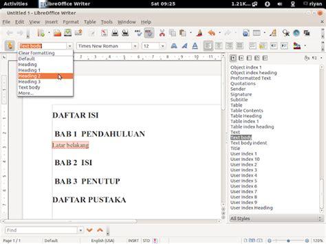 latar belakang membuat lu otomatis tutorial membuat daftar isi pada libre office