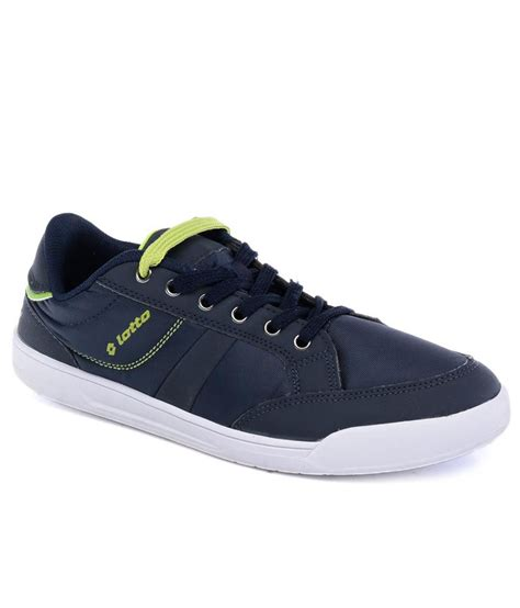 buy lotto slice navy lime casual shoes for snapdeal