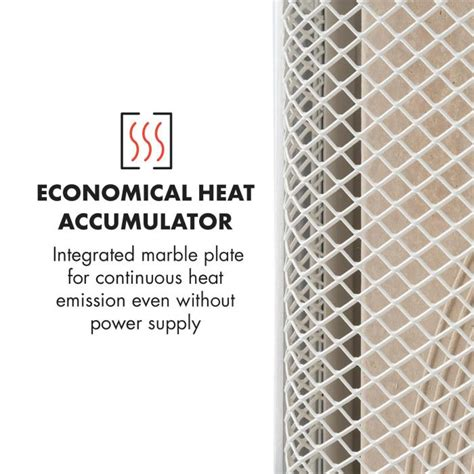 climatiseur mobile silencieux 179 heatpal marble chauffage infrarouge 1300w accumulateur