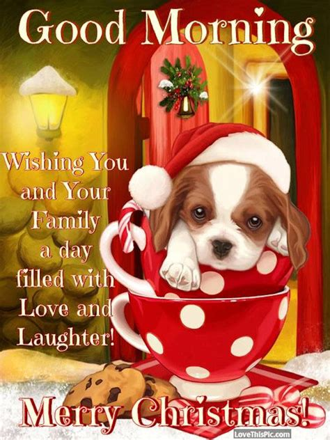 good morning wishing    family  day filled  laughter merry christmas pictures