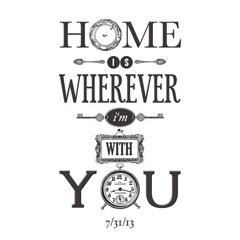 home is wherever i m with you print by of lemons