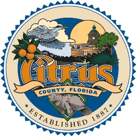 Citrus County Records File Seal Of Citrus County Florida Png Wikimedia Commons