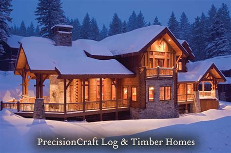 back view of this milled log home eagle s nest milled log timber frame home precisionc
