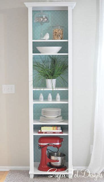 white bookshelf makeover with removable lining i a