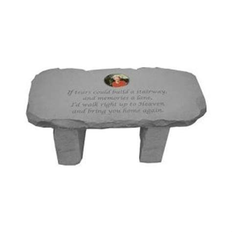 if tears could build a stairway bench if tears could build a photo cameo garden memorial bench kb 34552 314 50sympathy gift