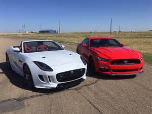 ford and jaguar the 2016 jaguar f type r vs ford mustang gt