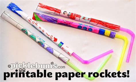 Printable Paper Rockets | printable paper rockets picklebums