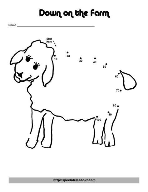 printable dot to dot sheep an easy chicken dot to dot