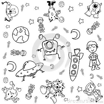 doodle themes for galaxy y doodle galaxy a stock vector image 70644510