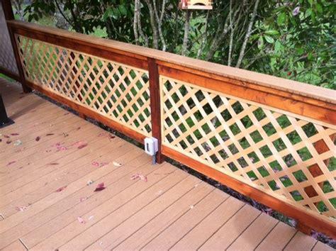 Deck Railing Designs With Lattice - lattice railing