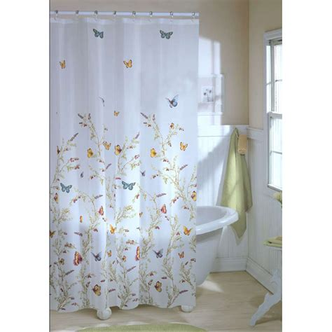 Butterfly Shower Curtains Blue Butterfly Shower Curtain